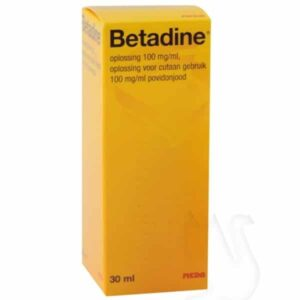 Betadine Jodium oplossing, 100mg/ml, flacon 30ml, per stuk
